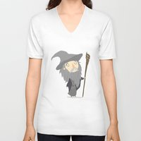 gandalf V-neck T-shirts featuring Gandalf the grey by Rod Perich
