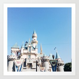Disneyland Princess Castle Print Art Print