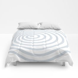 orbits - circle pattern in ice gray and white Comforters