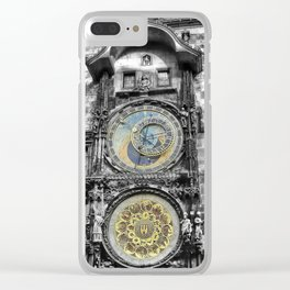 Astronomical Clock Clear iPhone Case