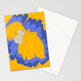 Raincoat Silhouette Stationery Cards