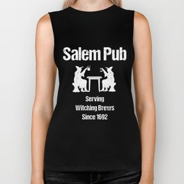 salem pub serving witching brews since 1692 halloween Biker Tank