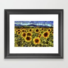 Sunflowers Vincent Van Gogh Framed Art Print