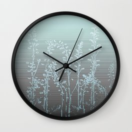 WILDFLOWERS - STRIPED OMBRE Wall Clock