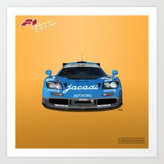McLaren F1 GTR #07R - 1995 Le Mans 5th place - Front View Art Print