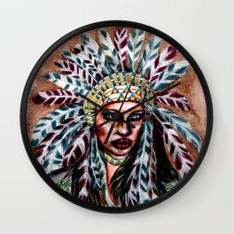 Lumbee Woman - Indian Native American Wall Clock