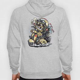 Smoke Skull Driver Moped - Texas cigar Hoody
