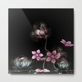 Metallic Bloom Metal Print