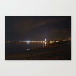 Province town at night Canvas Print