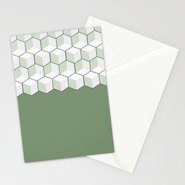 geometric tiles pattern Stationery Cards