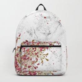 Royals - ruby gems, golden mandala and white grunge Backpack