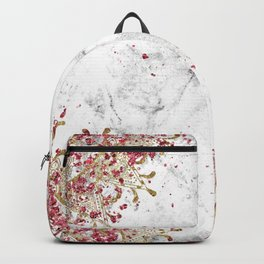 Royals - ruby gems, golden mandala and white grunge Backpack