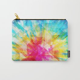 GEOMETRIC TIE DYE (Rainbow, Multi color) Carry-All Pouch