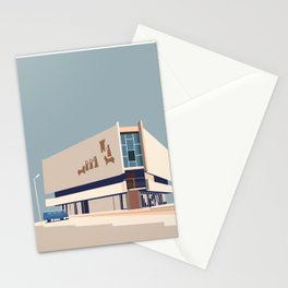 Soviet Modernism: Chess house in Yerevan Stationery Cards