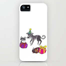 Pet party iPhone Case