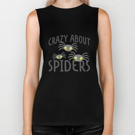 Crazy about Spiders Biker Tank