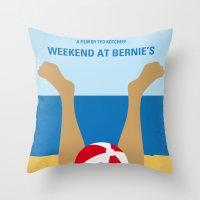 No765 My Weekend at Bernies minimal movie poster Throw Pillow