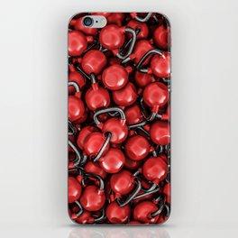 Kettlebells RED iPhone Skin