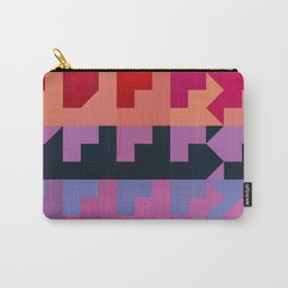 Colorful Geometrical Patterns Design Carry-All Pouch