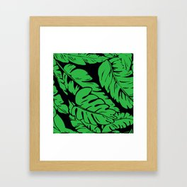 PALM LEAF GREEN Framed Art Print
