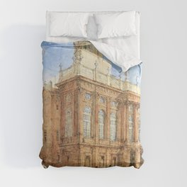 Franz Alt - View of the Castello Reale in Turin - Digital Remastered Edition Comforters