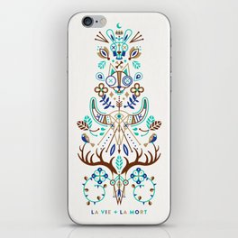 La Vie & La Mort – Turquoise and Brown iPhone Skin