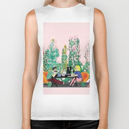 Take a coffee in the botanical garden Biker Tank