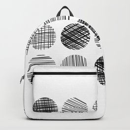 Abstract Lines Circles in Black and White Backpack