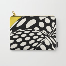 Wavy Dots on Yellow Carry-All Pouch