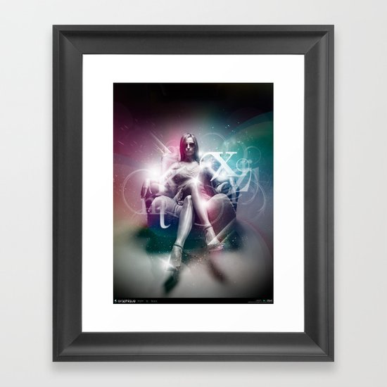 Graphique Framed Art Print