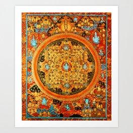 Buddhist Mandala Ashta Bhairava 1 Art Print