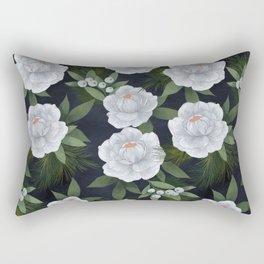 winter rose // repeat pattern Rectangular Pillow
