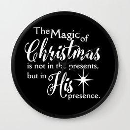 Magic of Christmas – Jesus Christmas Shirt Wall Clock