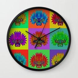 Sri Lankan Devil Mask : 6 Pop Wall Clock