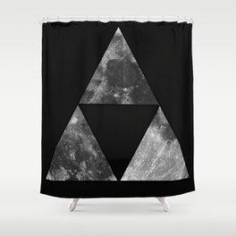 Triforce Moon Shower Curtain