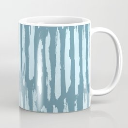 Vertical Dash Turquoise on Teal Blue Coffee Mug