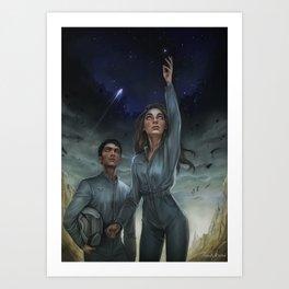 To the stars Art Print