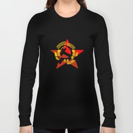 hammer and sickle symbol russia Long Sleeve T-shirt