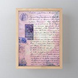 aérogramme Framed Mini Art Print