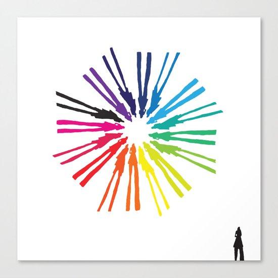 Spinning Shadows Rainbow II Canvas Print
