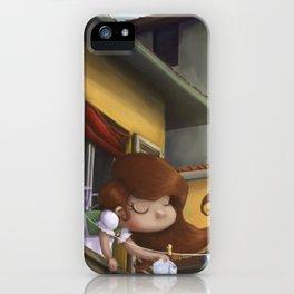 """hanging books"" iPhone Case"