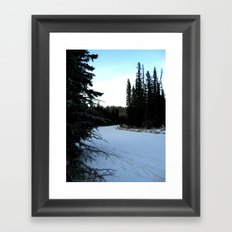 Wintertime in WaterValley Framed Art Print