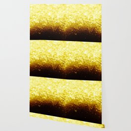 Golden Yellow Ombre Crystals Wallpaper