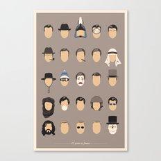 25 FACES OF JAMES Canvas Print