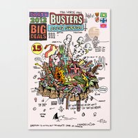 ghost busters Canvas Prints featuring Busters from Babylon by Jack Coltman