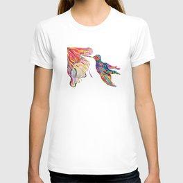 """Humhumbird"" Paulette Lust's whimsical, colorful, contemporary, original, fun, art.  T-shirt"