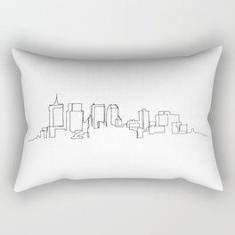 Tulsa Skyline Drawing Rectangular Pillow