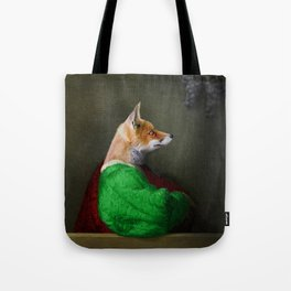 Portrait of the Fox and the Grapes Tote Bag
