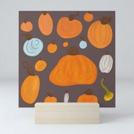 Pumpkin Family Dark Mini Art Print