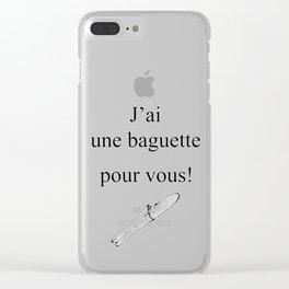 Mon Dieu! Clear iPhone Case